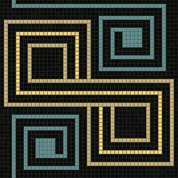 Decor Geometric | Quirk Gold 20x20 | Mosaïques verre | Mosaico+
