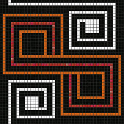 Decor Geometric | Quirk Red 20x20 | Mosaïques | Mosaico+