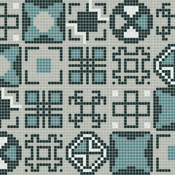 Decor Geometric | Squares Blue 20x20 | Glass mosaics | Mosaico+