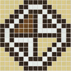 Decor Geometric | Squares Brown 20x20 | Mosaici | Mosaico+
