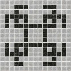 Decor Geometric | Squares Grey 20x20 | Glass mosaics | Mosaico+