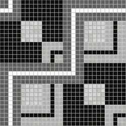Decor Geometric | Twist Black 20x20 | Mosaici | Mosaico+