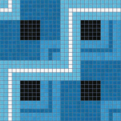Decor Geometric | Twist Blue 20x20 | Mosaïques | Mosaico+