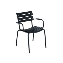 CLIPS | Dining chair with alumium armrests | Sedie | HOUE