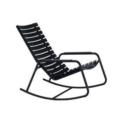 CLIPS | Rocking chair with Aluminum armrests | Armchairs | HOUE