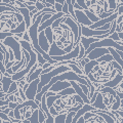 Decor Romantic | Bouquet Blue 10x10 | Mosaïques | Mosaico+