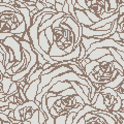 Decor Romantic | Bouquet White 10x10 | Mosaïques | Mosaico+