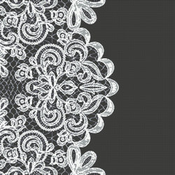 Decor Romantic | Broderie Black 10x10 | Glass mosaics | Mosaico+
