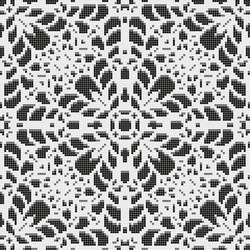 Decor Romantic | Doily Black 10x10 | Mosaïques | Mosaico+