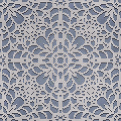 Decor Romantic | Doily Grey Blue 10x10 | Glass mosaics | Mosaico+