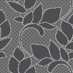 Decor Romantic | Fine Leaf Black 10x10 | Mosaïques | Mosaico+