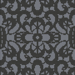 Decor Romantic | Reinassance Black 10x10 | Mosaïques | Mosaico+