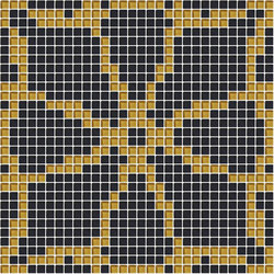 Decor Romantic | Roundel Brown 10x10 | Glass mosaics | Mosaico+
