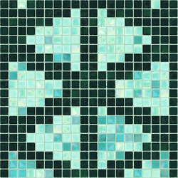 Decor Stylish Transitions | Shine Through Green 15x15 | Mosaïques verre | Mosaico+