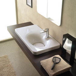 Fuji | 80 Shelf SX | Wash basins | Scarabeo Ceramiche