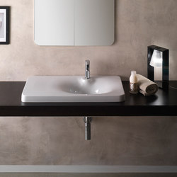 Fuji | 80 Shelf DX | Wash basins | Scarabeo Ceramiche