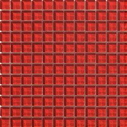 Divetro | Rosso 23x23 | Glass mosaics | Mosaico+