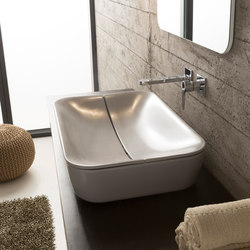 Mizu | 70 + Cover | Wash basins | Scarabeo Ceramiche