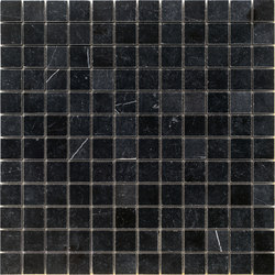 Pietre | Nero Belgio 23x23 | Naturstein Mosaike | Mosaico+
