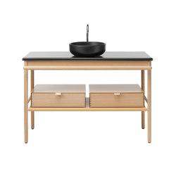 Mya | Ceramic washbasin incl. vanity unit | Vanity units | burgbad