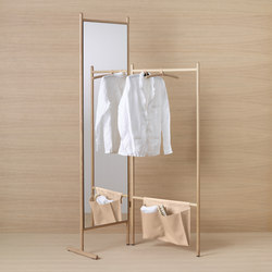 Mya | Wardrobe-partition/free-standing | Towel rails | burgbad