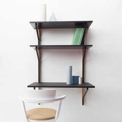 Kaari Wall Shelf with Desk REB013 | Shelving | Artek