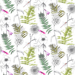 Majolica Prints | Acanthus – Moss | Curtain fabrics | Designers Guild