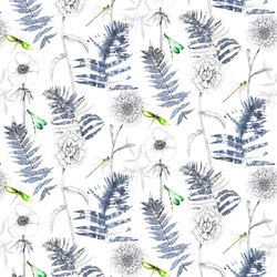 Majolica Prints | Acanthus – Indigo | Curtain fabrics | Designers Guild