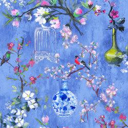 Majolica Prints | Istoriato – Cobalt | Tejidos para cortinas | Designers Guild