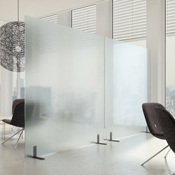 acoustic glass panels | Space dividing systems | adeco
