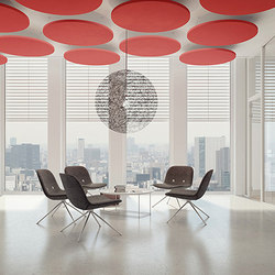 acoustic ceiling sails | Sound absorbing suspended panels | adeco