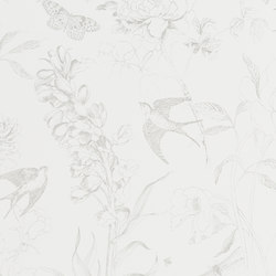 Jardin Des Plantes Wallpaper | Sibylla - Silver | Wall coverings / wallpapers | Designers Guild