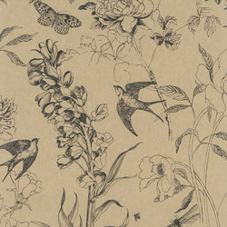 Jardin Des Plantes Wallpaper | Sibylla - Burnished Gold | Wall coverings / wallpapers | Designers Guild