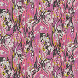 Jardin Des Plantes Wallpaper | Delahaye - Magenta | Carta da parati / carta da parati | Designers Guild