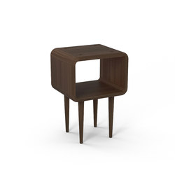 Teve | small - walnut - with recesses | Mesillas de noche | Wiinberg
