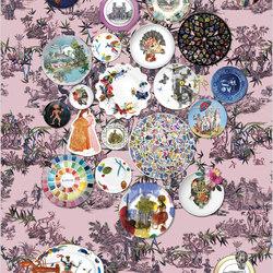 Au Thèâtre Ce Soir Wallpaper | Folie – Myrtille | Wandbeläge / Tapeten | Designers Guild