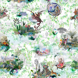 Au Thèâtre Ce Soir Wallpaper | Reveries – Vert Buis | Wall coverings / wallpapers | Designers Guild