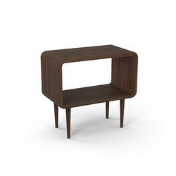 Teve | medium - walnut - with recesses | Side tables | Wiinberg