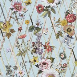 Au Thèâtre Ce Soir Wallpaper | Rocaille - Aqua | Wall coverings / wallpapers | Designers Guild