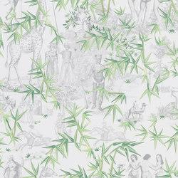 Au Thèâtre Ce Soir Wallpaper | Exotisme – Vert Buis | Revestimientos de paredes / papeles pintados | Designers Guild