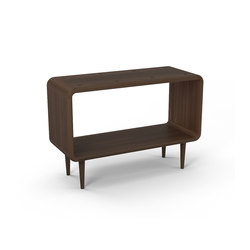 Teve | large - walnut- with recesses | Estantería | Wiinberg