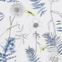 Majolica Wallpaper | Acanthus - Indigo | Wall coverings / wallpapers | Designers Guild