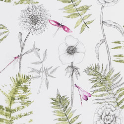 Majolica Wallpaper | Acanthus - Moss | Wall coverings / wallpapers | Designers Guild