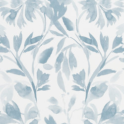 Majolica Wallpaper | Patanzzi - Slate Blue | Wall coverings / wallpapers | Designers Guild