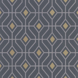 Majolica Wallpaper | Laterza - Graphite | Wall coverings / wallpapers | Designers Guild