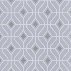 Majolica Wallpaper | Laterza - Platinum | Wall coverings / wallpapers | Designers Guild