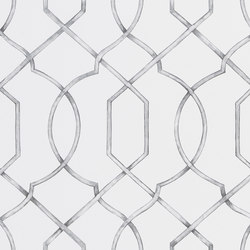 Majolica Wallpaper | Rabeschi - Black and White | Wall coverings / wallpapers | Designers Guild