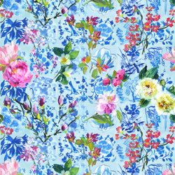Majolica Wallpaper | Majolica – Cornflower | Wall coverings / wallpapers | Designers Guild