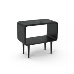 Teve | medium - oak black stain - with recesses | Side tables | Wiinberg