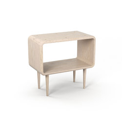 Teve | medium - oak white oil - with recesses | Side tables | Wiinberg